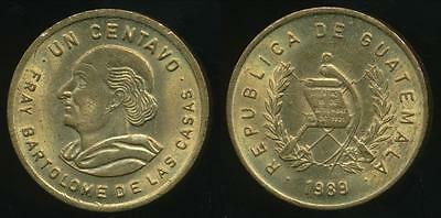 Guatemala, Republic, 1989 1 Centavo - Uncirculated