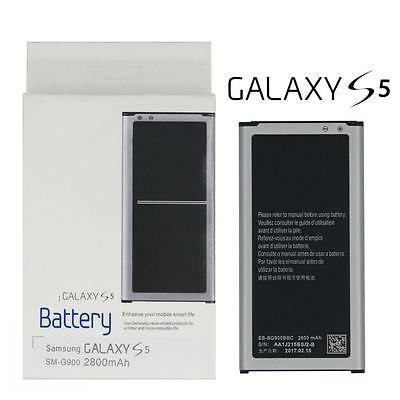 Genuine Battery/Charger Box/Cable For Samsung G900 Galaxy S5 SM-G900V 2800mAh