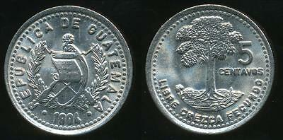 Guatemala, Republic, 1994 5 Centavos - Uncirculated