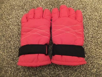 Girls pink Thinsulate ski gloves size small
