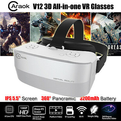 """5.5"""" IPS Screen 3D VR Box Virtual Reality Goggles Glass Headset Private Theater"""