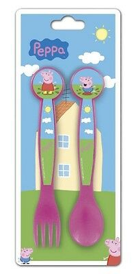 peppa Pig Plastic Cutlery Set Spoon and Fork