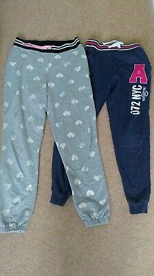 2 pairs girls joggers age 9-10