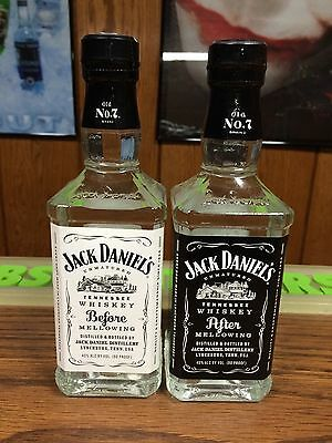 Rare Jack Daniels 375Ml Evo / New Version Before & After Mellowing Set -No Rye