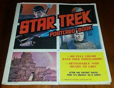 Star Trek Postcard Book 1977 48 Full Colour Original TV Star Trek Postcards