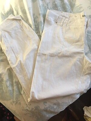 Maternity White Linen Trousers Size 14