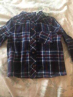 M&CO Boys Checked Shirt Baby 9-12 Months NWT