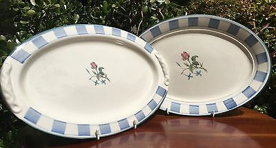 Robert Gordon - Chambray Rose Pair Oval Platters