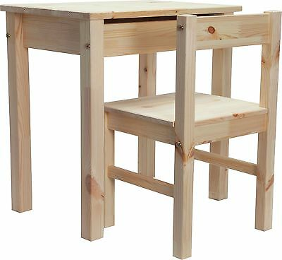 Kids Scandinavia Desk and Chair - Pine.