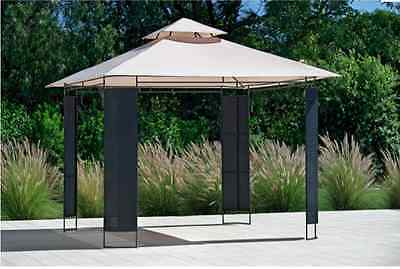 NEW Rattan Effect Square Garden Gazebo Outdoor Marquees Covers Shades Weddings