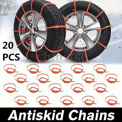 20Pcs Car Truck Anti-skid Chains For Snow Mud Wheel Tyre Tire Ties Cable Nylon