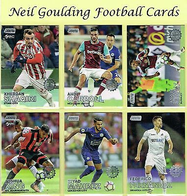 Topps STADIUM CLUB 2016-2017 FIRST DAY ISSUE PARALLEL Football Cards #1 to #100