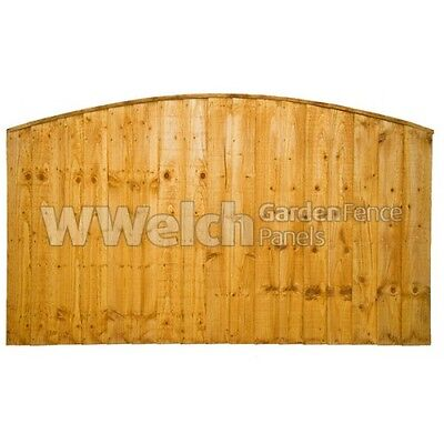Garden Fence Panel Arched Close Board/Feather Edge