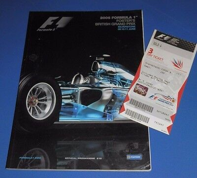 Silverstone - British Grand Prix programme and ticket 2006