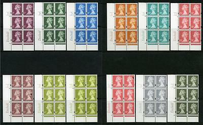 GB Decimal Machin Enschede Cyl Blocks MNH. Various Scans and Phosphors Shown