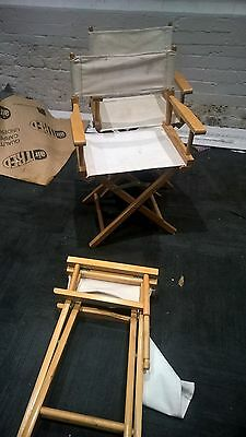 Folding Directors Style Chairs Camping Garden Canvas x 3
