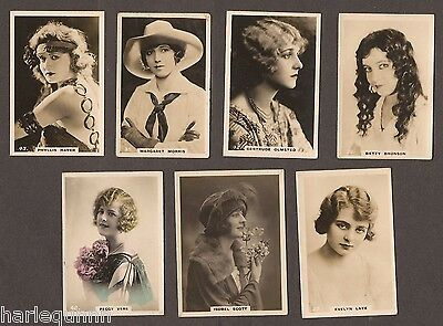 British American Tobacco B. A. T. 7 Real Photo's Beauties All Listed