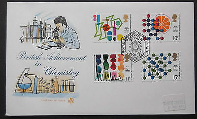 Gb Fdc Official Stuart Cover British Achievements In Chemistry