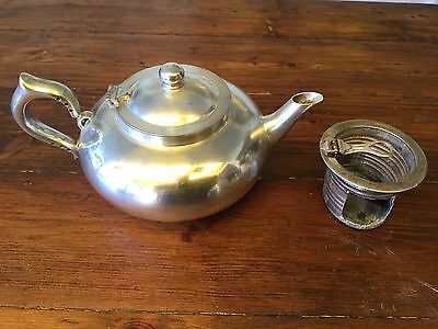 Small Vintage ROBUR PERFECT TEAPOT with damaged Infuser + stainless replacement