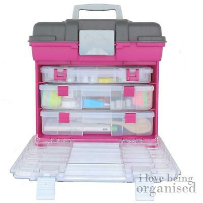 Spacious Craft Organiser Hobby Box Bin | Creative Options Large Grab N Go Rack S