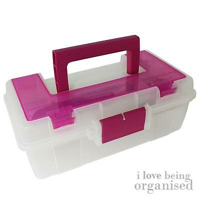 Craft Tool Box with Lift-Out Tray 13 inch Caddy DIY Crafts Hobby Organiser