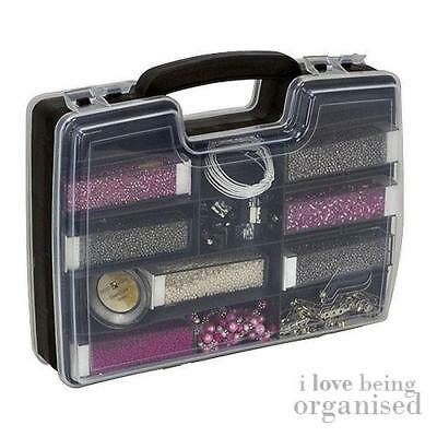 Medium Double Sided Storage Container Compartments   Creative Options Black Tool