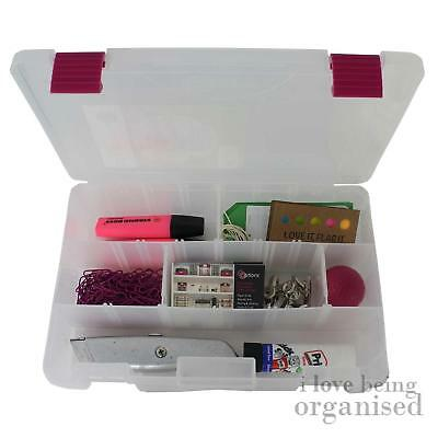 Medium Secure Storage Box Customisable | Pink Latch Creative Options Utility Org