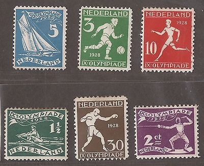 1928 Netherlands Stamps Unused  See Scan For Back And Front