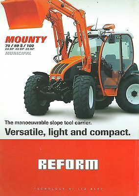 2005/06 Reform Mounty Municipal Slope Tool Carriers Brochure