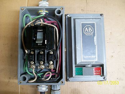 Allen Bradley Motor Starter Start Stop Switch Enclosure Size 0 3 Phase 609T-Aow