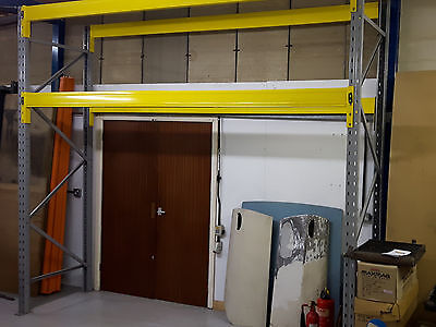 Heavy duty Racking 3.5m wide x 3m high with boards