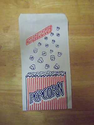 250 Vintage looking concession style 1.5 ounce popcorn bags Parties fund raising