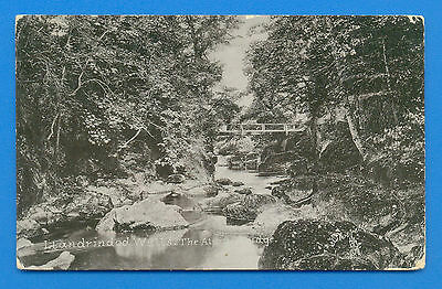 Llandrindod Wells.the Alpine Bridge.tucks Silverette Postcard Posted 1909