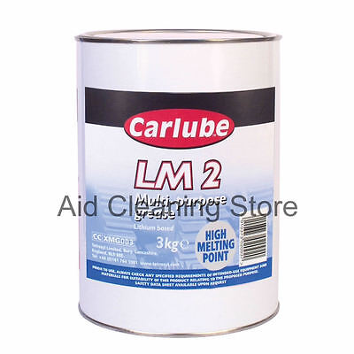 Carlube LM2 Lithium Multi Purpose Grease 3kg-High Melting/ Protects/Lubrication