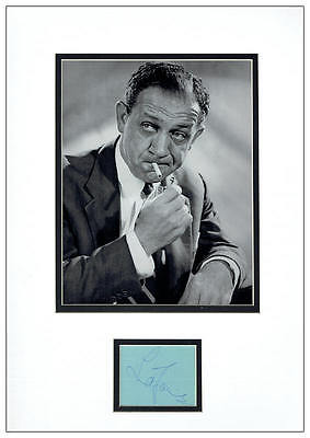 Sid James Autograph Signed Display  AFTAL  UACC RD