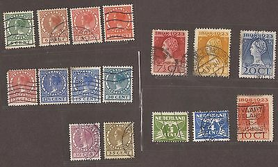 1921 To 1924 Netherlands Stamps Used  See Scan For Back And Front