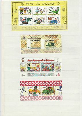 Nederland unmounted mint Minature sheets qty 4 different