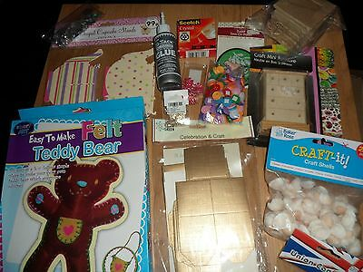 Bundle/job lot craft, stickers, card making, hobby, art items all new