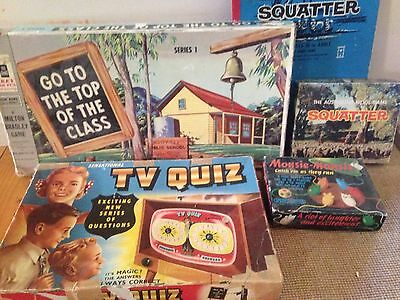 Old Games X4. Vintage/retro. Squatters, Tv Quiz. Top Of The Class. MousieMousie