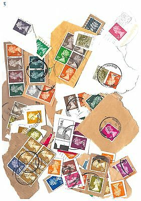 GB -  100 High Value Definitive  Postage stamps as shown in picture (B)