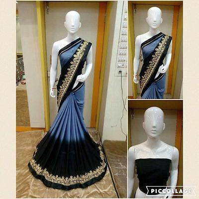 pakistani Bollywood indian designer Saree ethnic traditional party wear sari x5