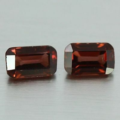 2.335 Cts Full Fire Natural Natural Earth Mine Red Zircon Loose Gemstone Pair