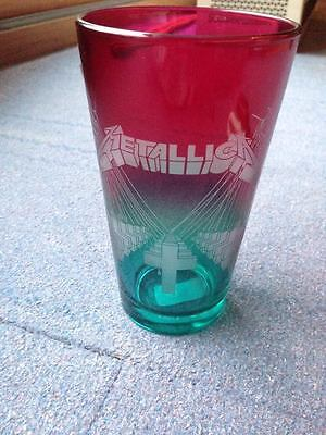 METALLICA Master of puppets Glass MINT handetched from official club box knob