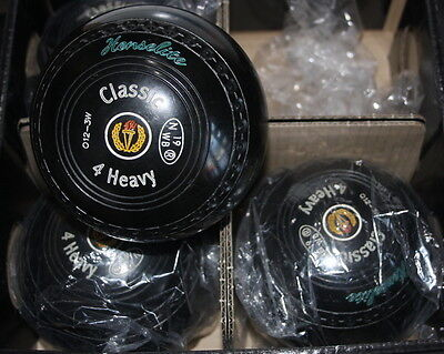 Henselite Classic Lawn Bowls Size 4 Heavy WB19 Stamp Good Condition
