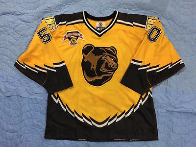 NHL Boston Bruins game-worn Chris Taylor 1998-99 third jersey size 54 75th patch