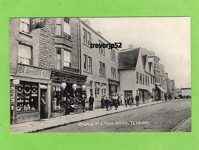 Church Street & Post Office Tetbury old pc  used about1908 Clark & Lamb Ref A655