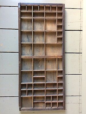 Vintage wooden printers letterpress tray (can be fixed to wall as shelves)