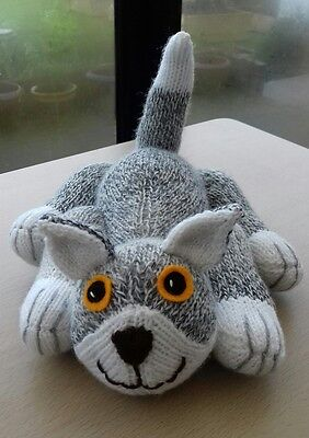 Soft & Cuddly Hand Knitted Cat / Kitten Soft Toy