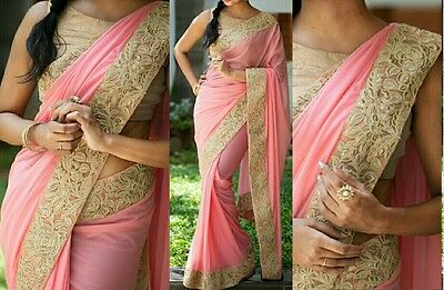 pakistani Bollywood indian designer Saree ethnic traditional party wear sari x8