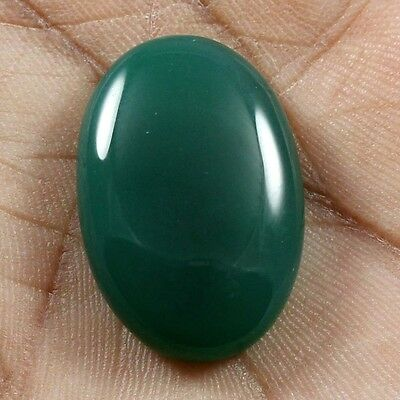 30.45 cts Natural Beautiful Green Onyx Cabochon Oval Loose Quality Gemstones
